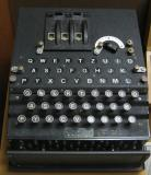 Old machine that looks similar to a typewriter