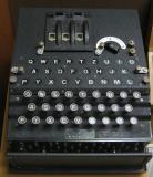 Old machine that looks similar to a typewriter