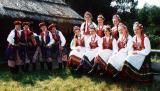 Polacy tancerzy w stroju krakowskim