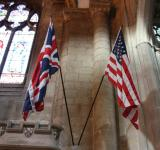 American and English flags