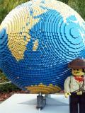 Giant lego globe