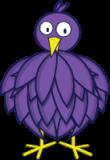 Fioletowy ptak