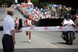 Runner approaching finishline